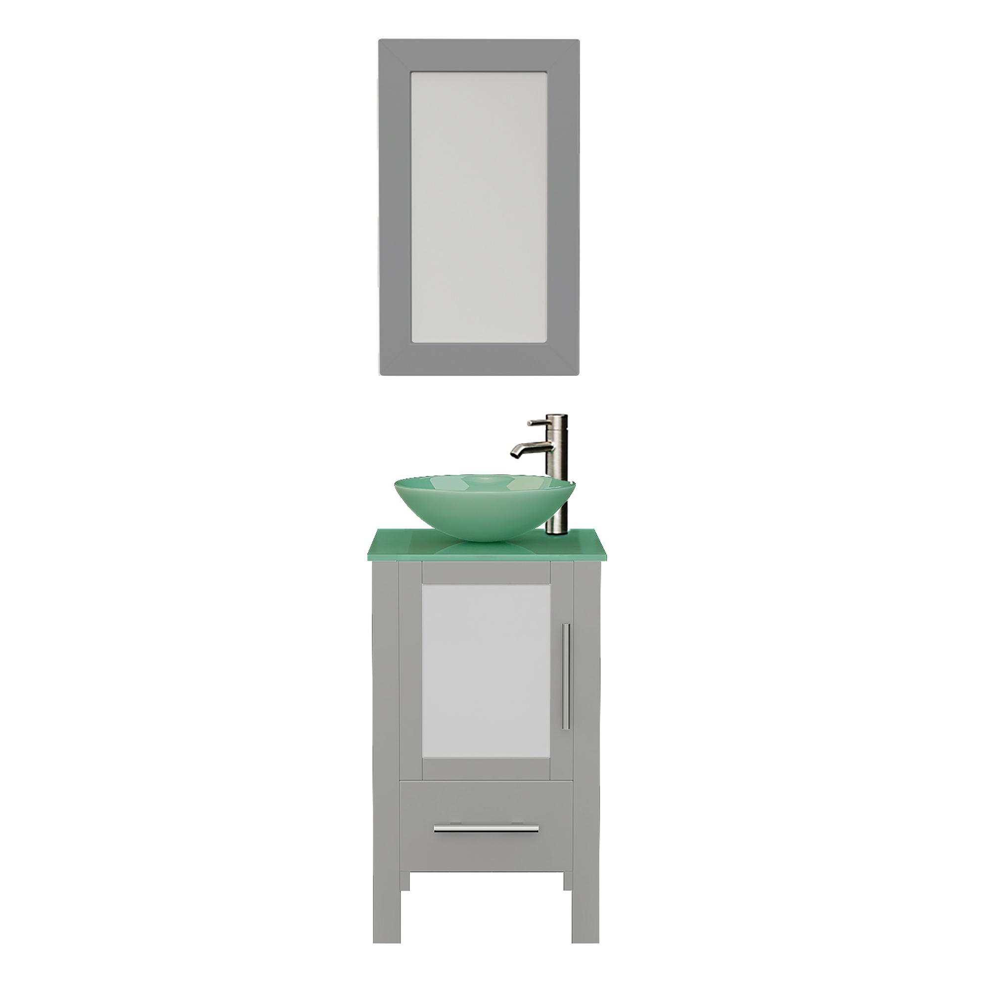 8137BG Gray Vanity Set w/Brushed Nickel Faucet