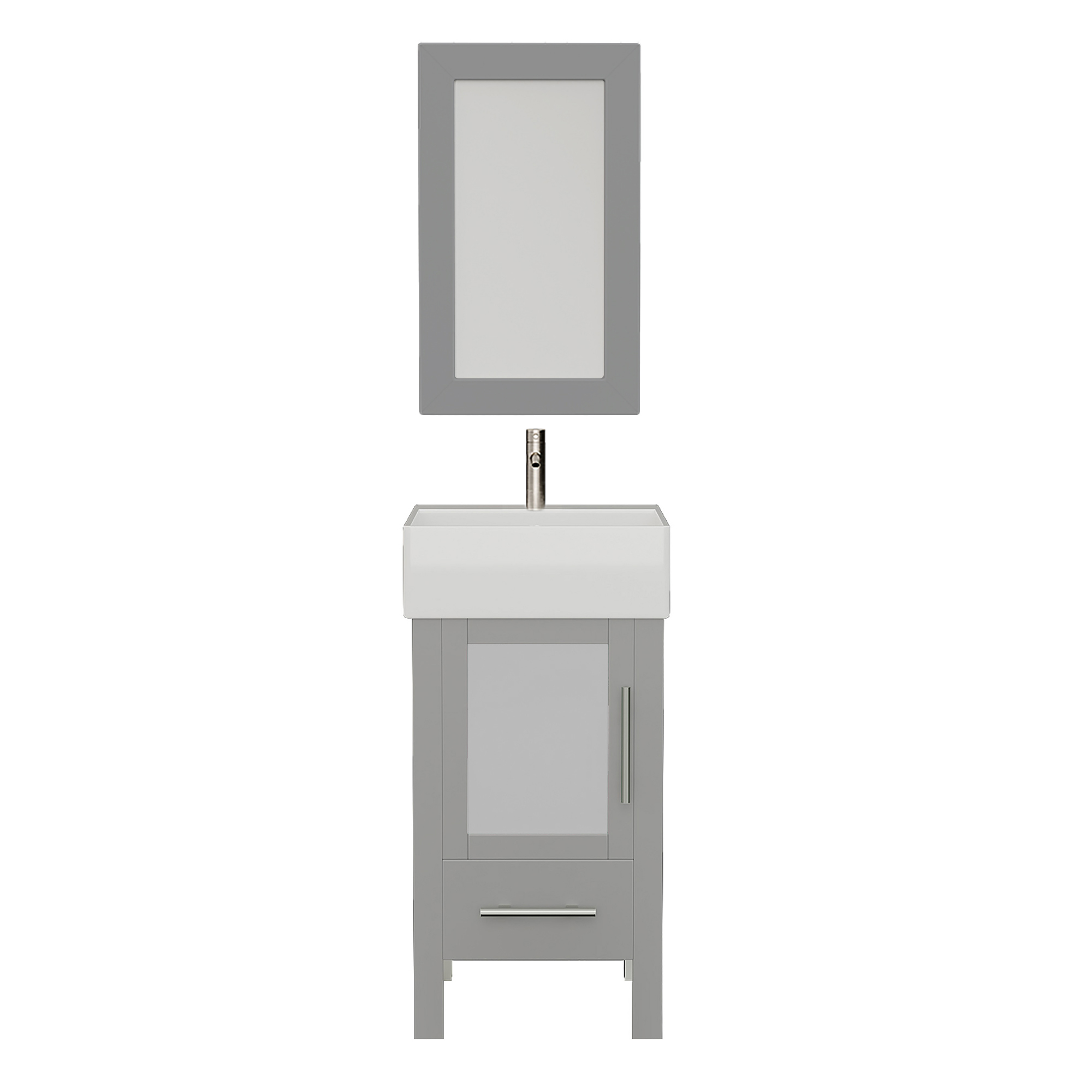 8137G Gray Vanity Set w/Brushed Nickel Faucet