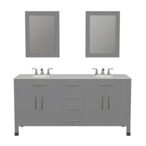 8162G Gray Vanity w/Mirrors