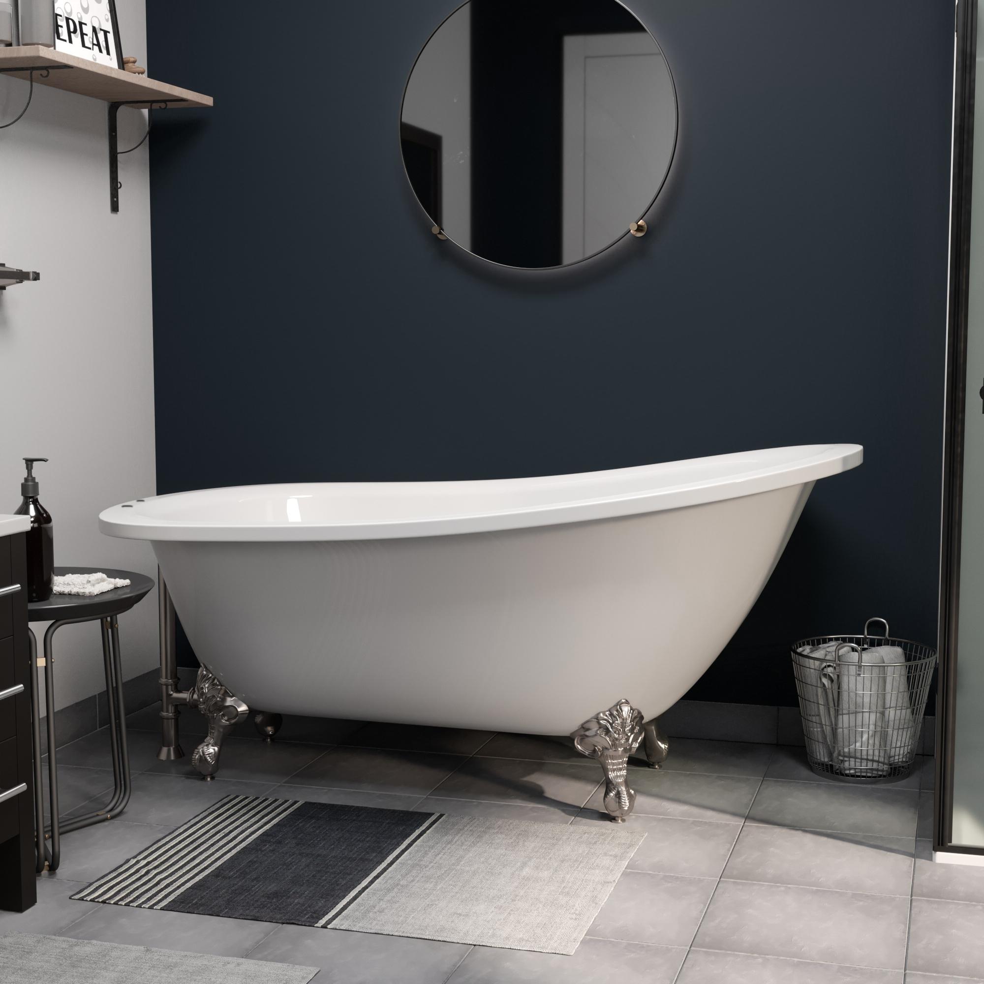 """61"""" slipper tub AST61XL DH BN"""