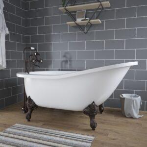 clawfoot slipper tub ASTX61-DH 01