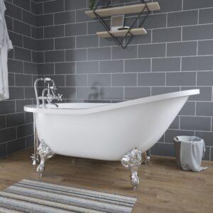 clawfoot tub ASTX61-DH-463D-2-PKG-CP
