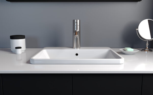 21-inch Mineral Composite Recessed Sink 01