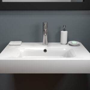 32 inch Mineral Composite Wall Mounted Sink - CAM32WMSES 01